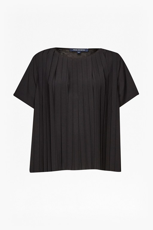 Polly Pleats Boxy Top