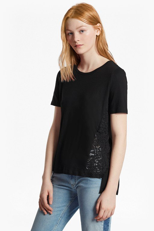hopper lace round neck t-shirt
