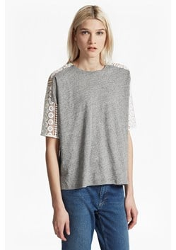 Dune Lace Crochet Oversized T-Shirt
