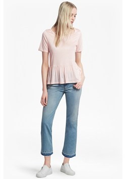 Miro Mercerised Peplum Jersey Top