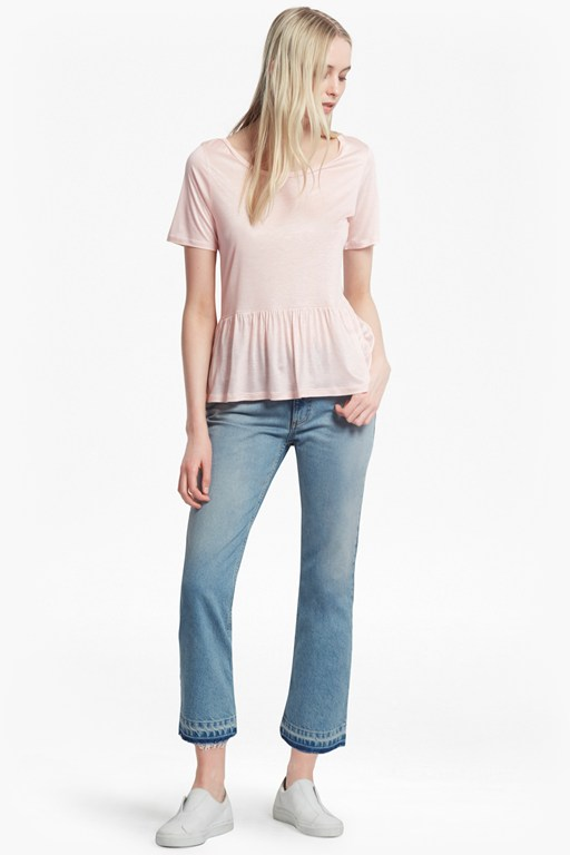 Complete the Look Miro Mercerised Peplum Jersey Top