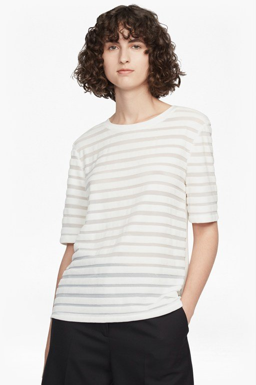 Complete the Look Bernice Velvet Stripe Jersey T-Shirt