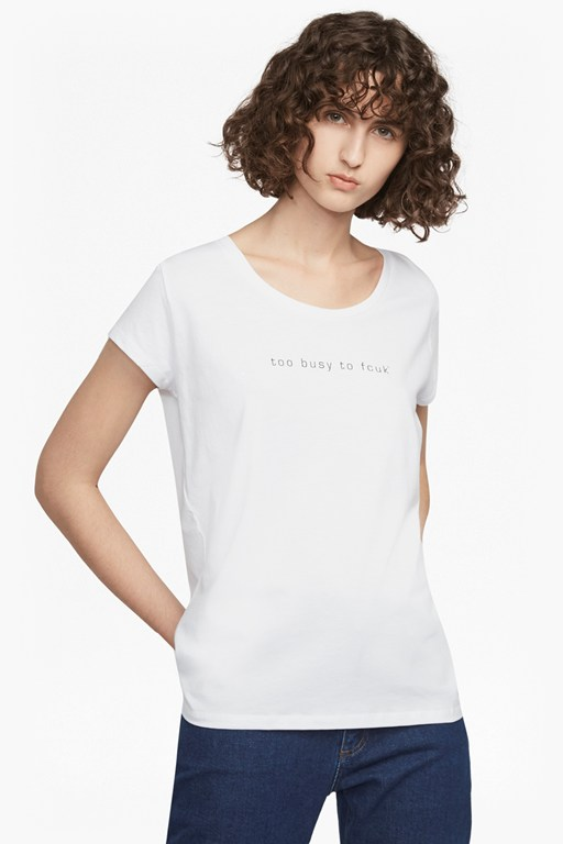 Complete the Look Too Busy To Fcuk Short Sleeved T Shirt