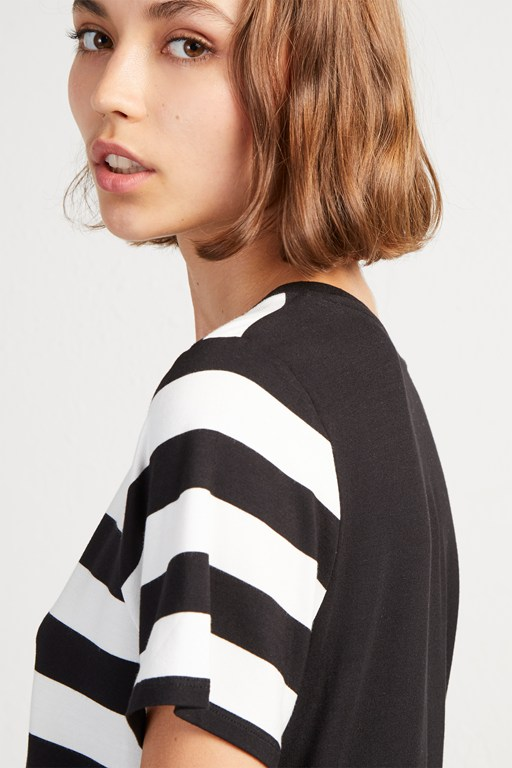 briant stripe blocked jersey t-shirt