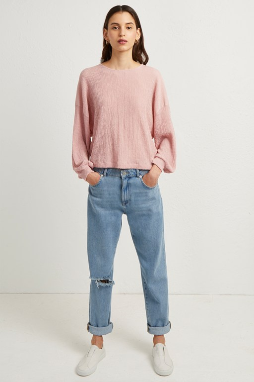 willow jersey cropped top