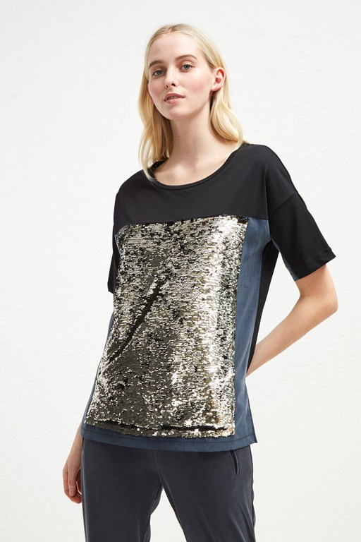 emilia sequin jersey oversized t-shirt