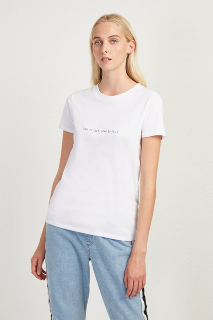Live To Love Slogan T-Shirt