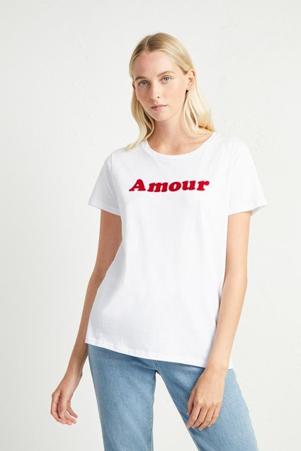 Amour Slogan T-Shirt