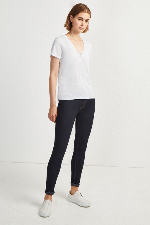 hetty v neck jersey short sleeve tee
