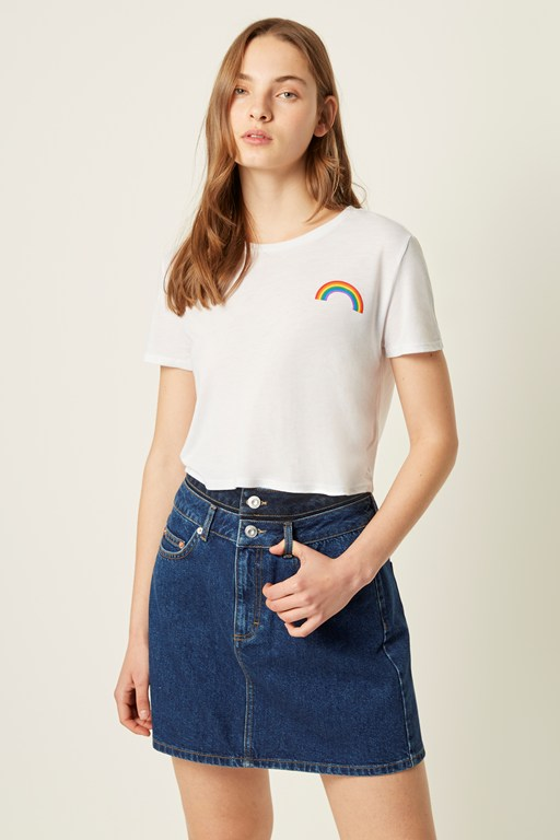 pride rainbow crop top