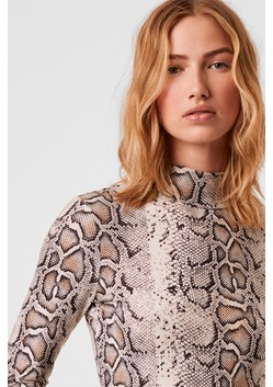 Animal Printed High Neck Top