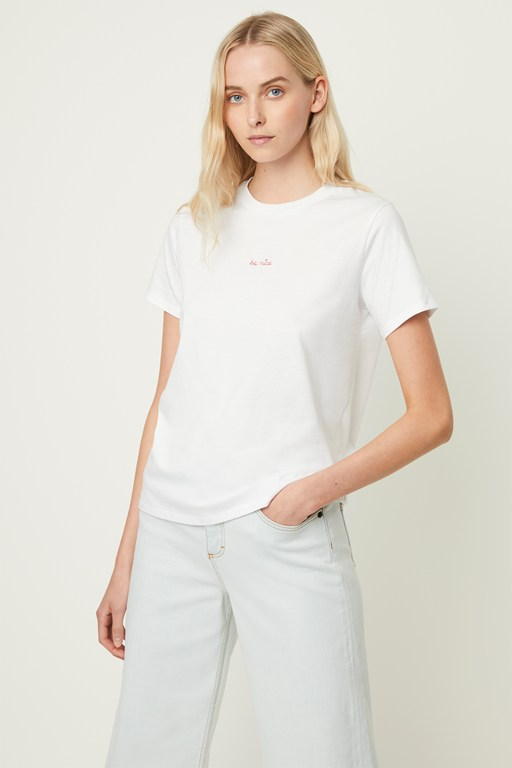 Complete the Look Be Nice Embroidered T-shirt
