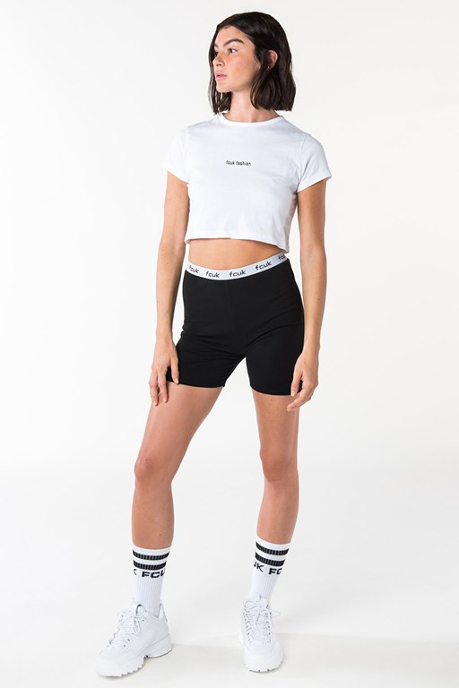 fcuk fashion short sleeve crop top