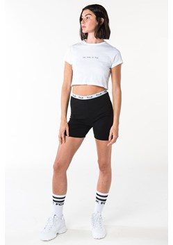 TOO BUSY TO FCUK SHORT SLEEVE CROP TOP