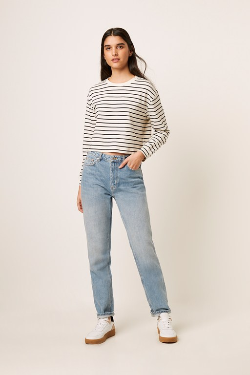 tim tim breton stripe crop top