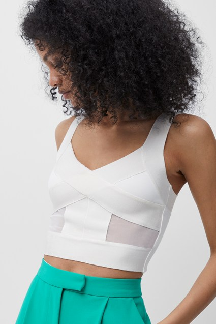 Tella Wrapped Jersey Crop Top