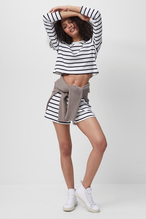Complete the Look TOMMY RIB LS STRIPE CROPPD TOP