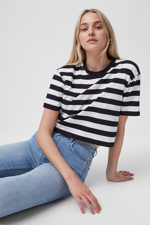 Complete the Look Cotton Non Stretch Jersey Crop Tee