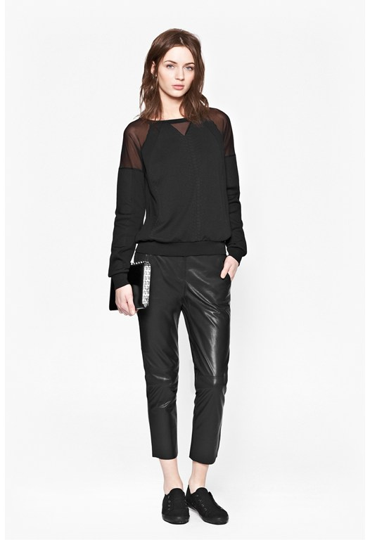 Milly Mesh Jersey Jumper