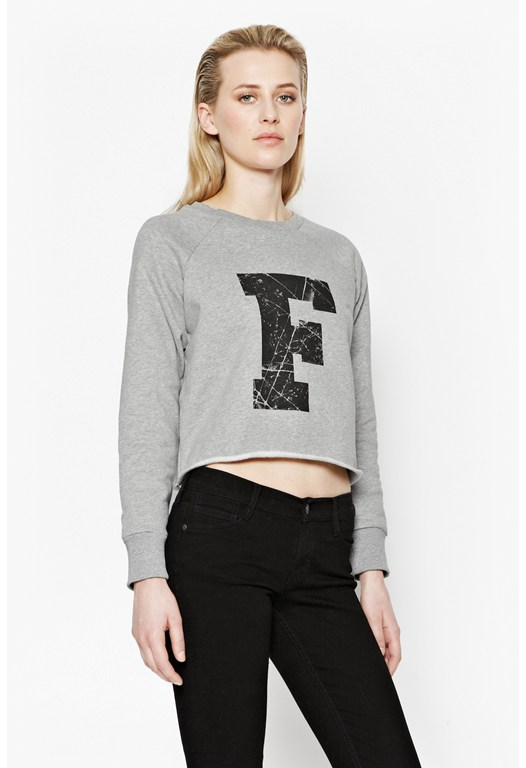 Raw F Cropped Sweater
