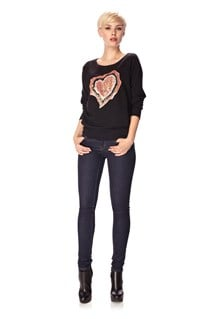 Agate Heart Sequin Jumper