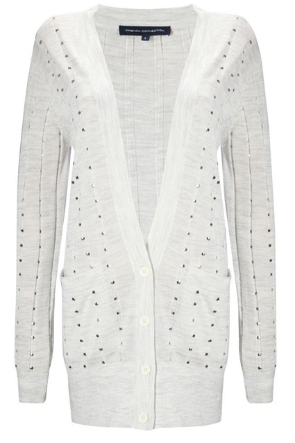 Deconstructed Studded Cardigan