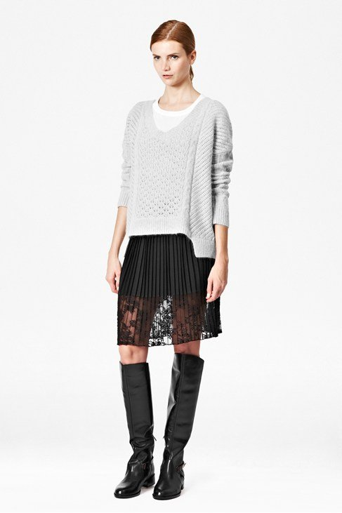 Feather Knitted Angora Jumper