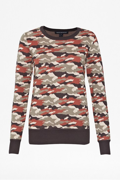 Camo Knit Jumper