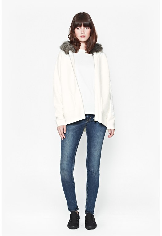 Autumn Vhari Faux Fur Hooded Cardigan