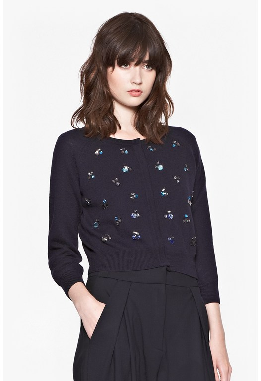 Opal Bright Embellished Cardigan