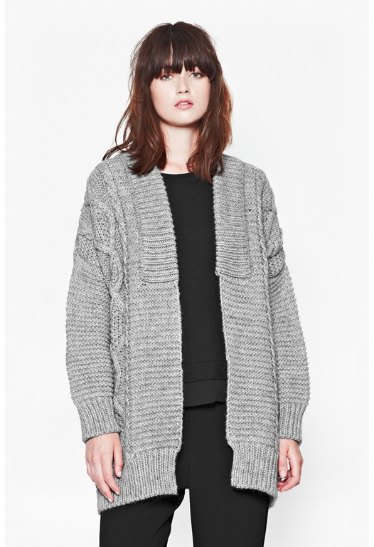 Lucia Cable Knit Cardigan