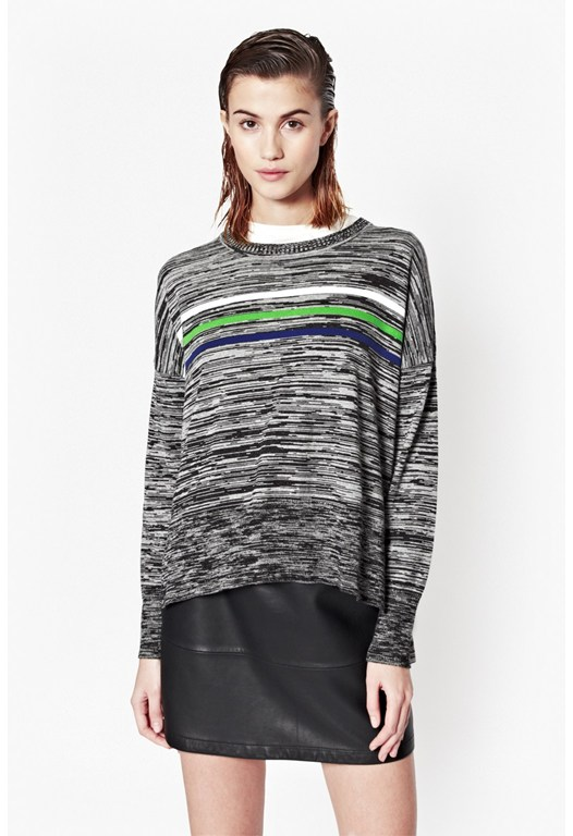 Stripe Multi Knitted Jumper