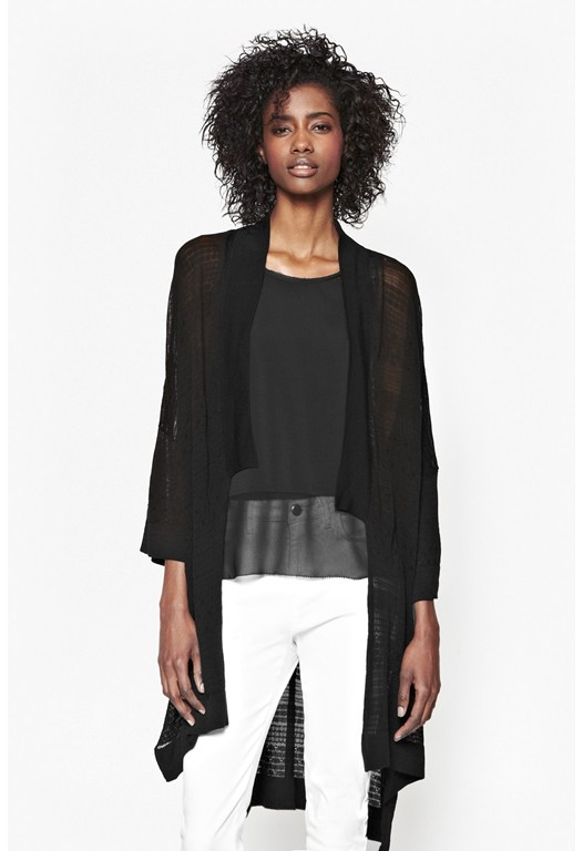 Isra Pointelle Oversized Cardigan