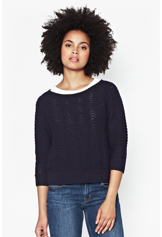 Wonky Wave Knitted Jumper