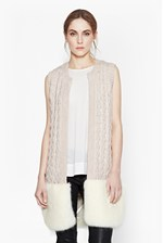 Looks Great With Glinka Knitted Fur Cardigan