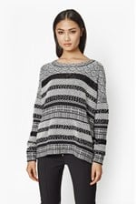 Looks Great With Monochrome Mix Pattern Jumper