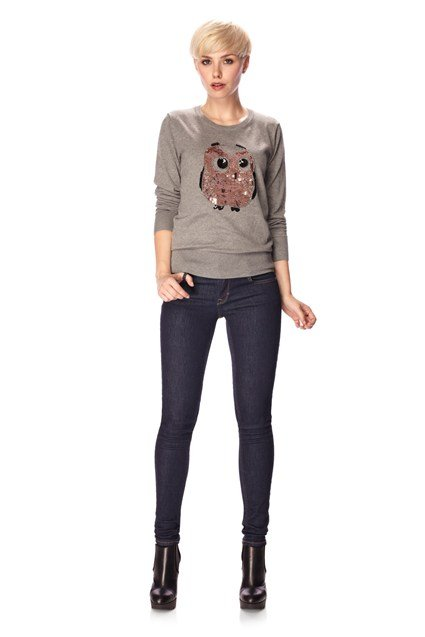 Lady Owl Sequin Jumper