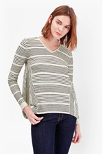 Looks Great With Pinstripe Crochet Trim Detail Jumper