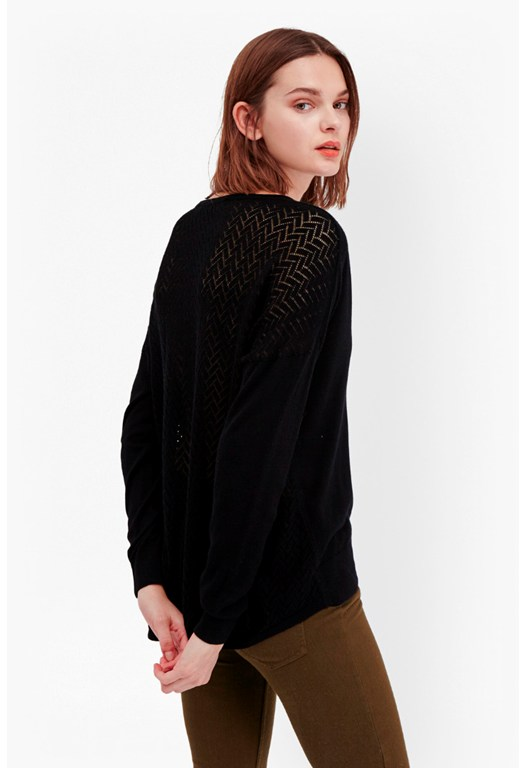 Blixen Pointelle Back Jumper