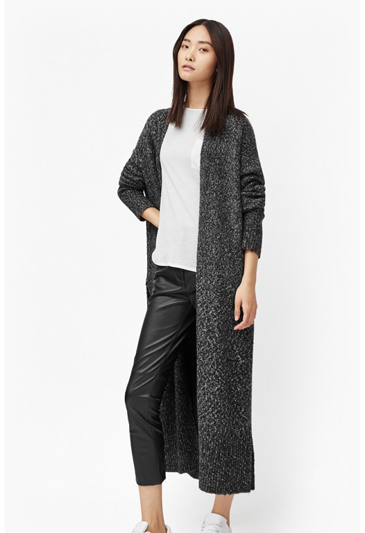 Flecked Flora Long Cardigan
