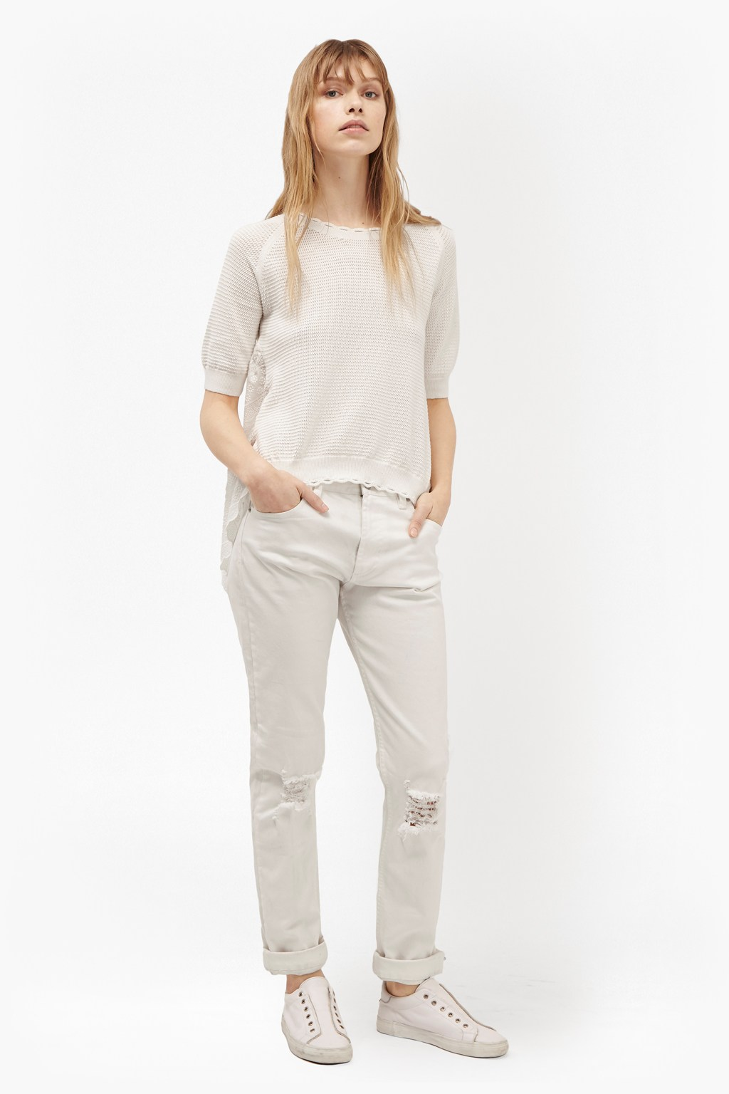 Celia Scallop Knitted Jumper