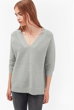 Looks Great With Mozart Ripple V Neck Jumper