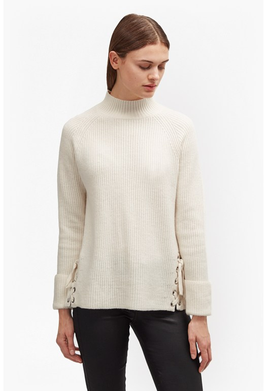 Freedom Fringe Knits High Neck Jumper