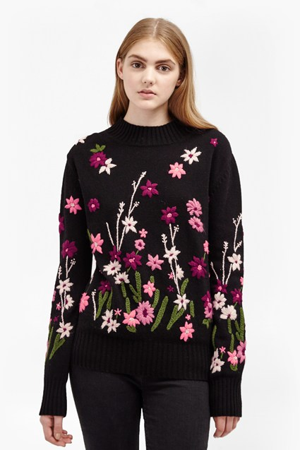 Floral Garden Embroidered Jumper