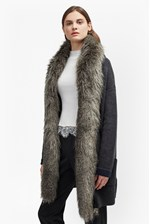 Looks Great With Double Sided Faux Fur Vhari Coatigan