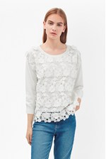 Looks Great With 3D Crochet Knitted Jumper