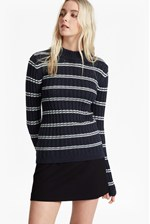 Looks Great With PO Rib Knits High Neck Jumper