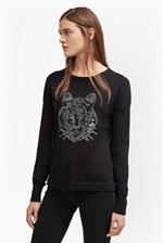 Looks Great With Animal Knit Tiger Sequin Jumper