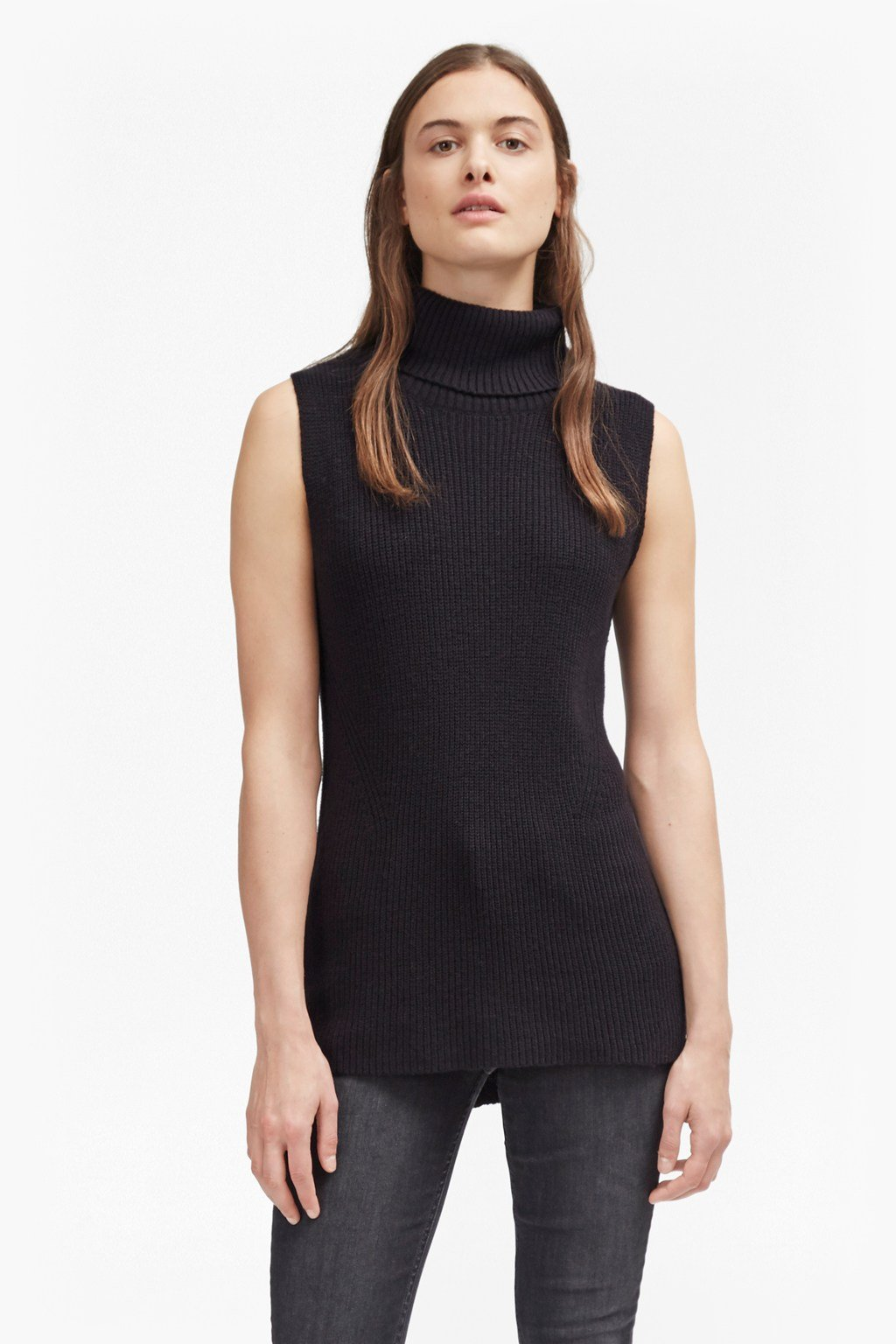 Abel Sleeveless High Neck Jumper