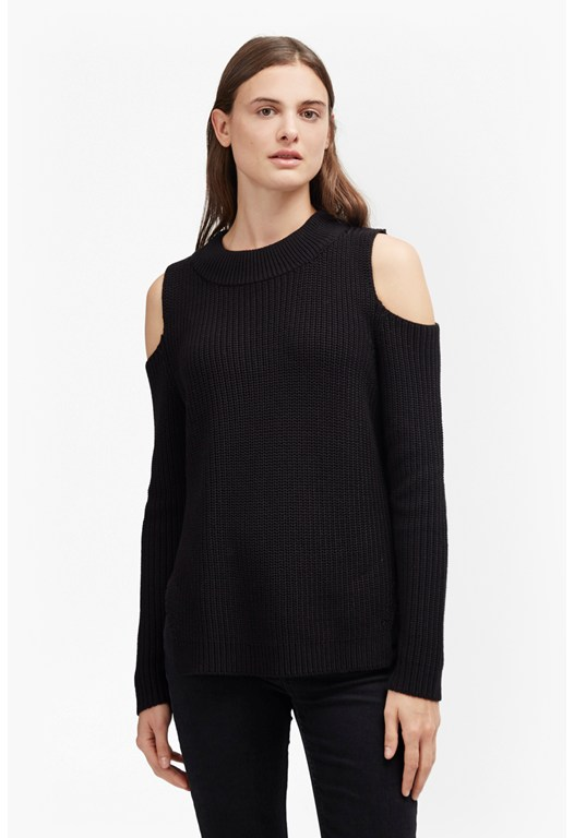 Cold Shoulder Cotton Jumper